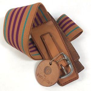LP Linea Pelle Multicolor Wide Stretch Waist Belt